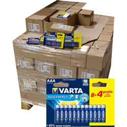 12000 piles AAA High Energy VARTA