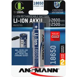 ACCU Li-Ion 18650 RECHARGEABLE 3.6V 2600mAh x1