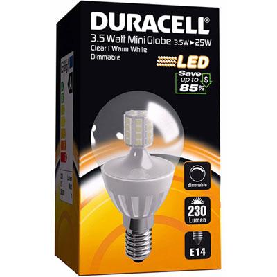 ampoule led e14 3 5watt 230 lumens globe translucide duracell m ga piles. Black Bedroom Furniture Sets. Home Design Ideas