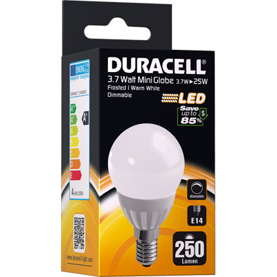 ampoule led e14 3 7watt 250 lumens globe mate duracell m ga piles. Black Bedroom Furniture Sets. Home Design Ideas
