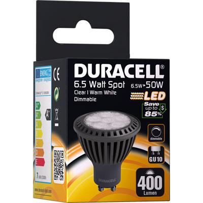 ampoule spot led gu10 6 5watt 400 lumens duracell m ga piles. Black Bedroom Furniture Sets. Home Design Ideas
