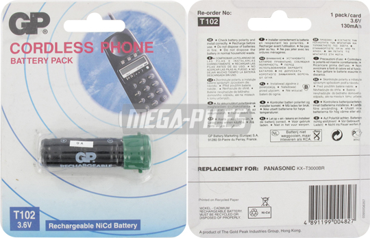 BATTERIE TELEPHONE T102 3.6V 130mAh