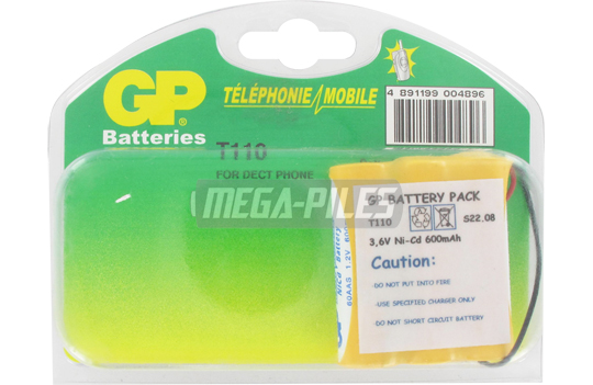BATTERIE TELEPHONE T110 3.6V 600mAh