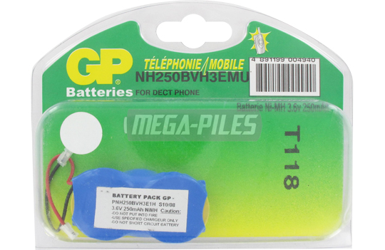 BATTERIE TELEPHONE T118 3.6V 170mAh