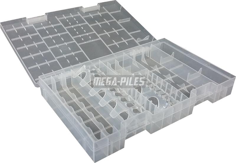 boite de rangement pour piles rechargeables 275x170x37mm leclanche m ga piles. Black Bedroom Furniture Sets. Home Design Ideas