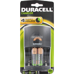 CHARGEUR 4 PILES 4h + 2 AA NiMH 1300mhA DURACELL