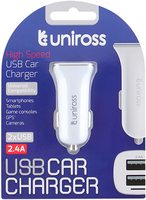 CHARGEUR ALLUME-CIGARE POUR ENTREE 2x USB 2.4A