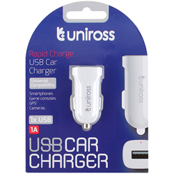 CHARGEUR ALLUME-CIGARE POUR ENTREE USB 1A UNIROSS