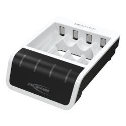 Chargeur rapide avec entrée USB pour 1-4 batteries NiMH de taille Micro AAA / Mignon AA