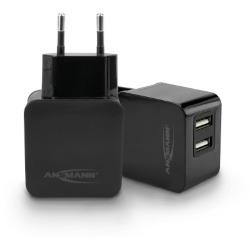 Chargeur USB intelligent avec 2 ports 15,5W noir