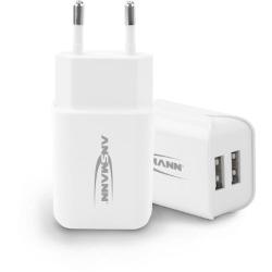 Chargeur USB intelligent avec 2 ports 12W blanc