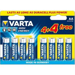 Lot de piles AA Pack de 8