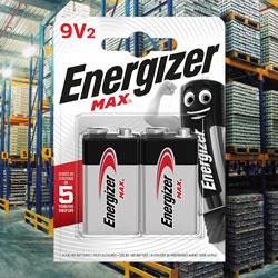Lot Energizer Max 9V 6LR61 Blister de 2