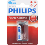 PILE 6LR61 POWER ALCALINE 9V x1 PHILIPS