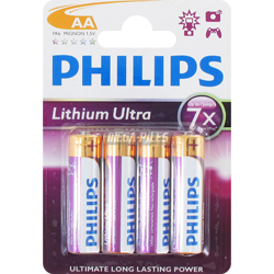 PILE AA FR6 LITHIUM ULTIMATE ULTRA 1.5v x4 PHILIPS