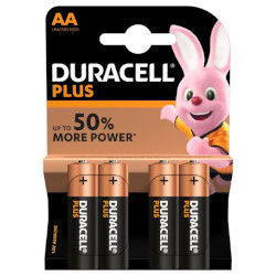 PILE AA LR6 ALCALINE DURALOCK PLUS POWER 1.5v x4