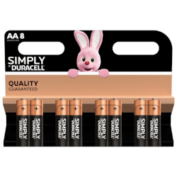 PILE AA LR6 ALCALINE SIMPLY 1.5v BL8 DURACELL