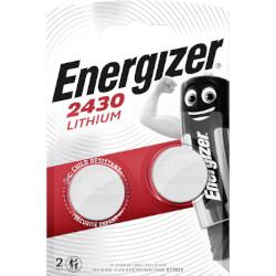 Pile bouton CR2430 lithium 3V 290mAh BL2