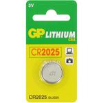 PILE CR2025 LITHIUM 3V 160mAh GPCR2025 BLISTER x1