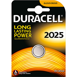 PILE BOUTON LITHIUM DL2025 3V DURACELL