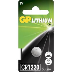 PILE CR1220 LITHIUM 3V GPCR1220 36mAh BLISTER x1