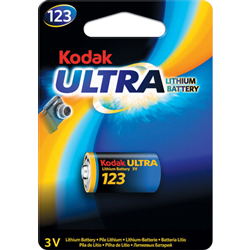 PILE CR123A LITHIUM PHOTO 3V 1400mAh BLISTER x1 KODAK
