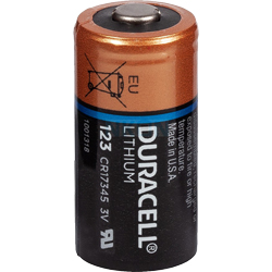 PILE CR123A LITHIUM PHOTO 3V 1400mAh (CR17345) x1 DURACELL