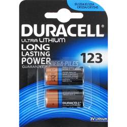 PILE CR123A LITHIUM PHOTO 3V 1400mAh x2