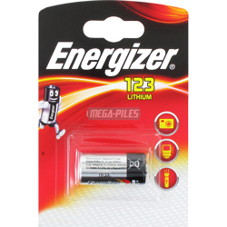 PILE 123 CR123A LITHIUM PHOTO 3V 1500mAh x1 ENERGIZER