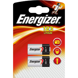 PILE CR123A LITHIUM PHOTO 3V 1500mAh x2 ENERGIZER