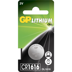 PILE CR1616 LITHIUM 3V 55mAh GPCR1616 BLISTER x1