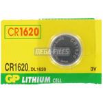 PILE CR1620 LITHIUM 3V 78mAh GPCR1620 x1