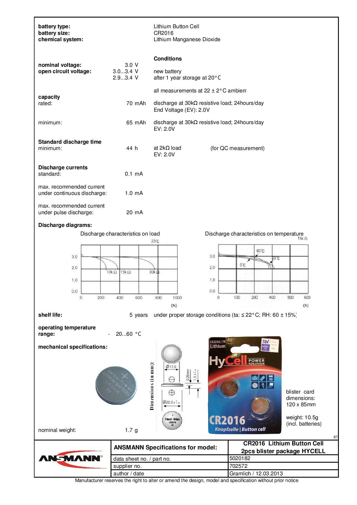 pile cr2016 lithium 3v 70mah x2 ansmann m ga piles. Black Bedroom Furniture Sets. Home Design Ideas