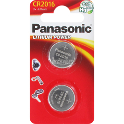 PILE CR2016 LITHIUM CR-2016EL/2B 3V 90mAh x2 PANASONIC