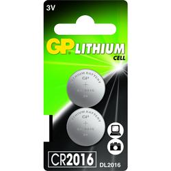 PILE CR2016 LITHIUM 3V GPCR2016 90mAh x2