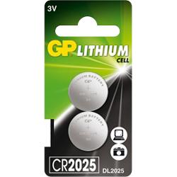 PILE CR2025 LITHIUM 3V 160mAh GPCR2025 x2