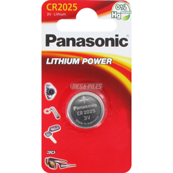 PILE CR2025 LITHIUM POWER 3V 165mAh x1 PANASONIC