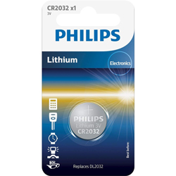 PILE CR2032 LITHIUM ELECTRONICS 3V 220 mAh 220 mAh PHILIPS