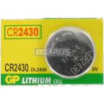 PILE CR2430 LITHIUM 3V 300mAh GPCR2430 x1