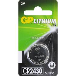 PILE CR2430 LITHIUM 3V 300mAh GPCR2430 BLISTER x1
