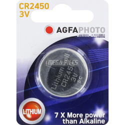 PILE CR2450 LITHIUM PHOTO 3V 600mAh x1 AGFA