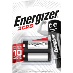 PILE LITHIUM 2CR5 245 PHOTO 6V 1300mAh x1 ENERGIZER
