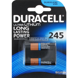 PILE LITHIUM DL245 PHOTO 2CR5 6V 1300mAh x1