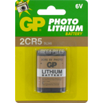 PILE LITHIUM PHOTO 2CR5 6V 1300mAh GP