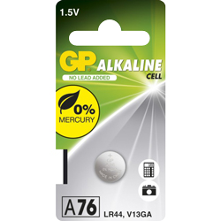 PILE LR44 ALCALINE A76C 1.5V 110mAh x1