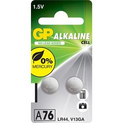 PILE LR44 ALCALINE A76C 1.5V 110mAh x2