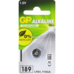 PILE LR54 ALCALINE V10GA 1.5V 44mAh BLISTER x1