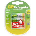 PILE RECHARGEABLE AAA HR03 1.2V 650mAh NiMH x4 GP