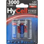 PILE RECHARGEABLE HyCell HR14 1.2V 2500mAh x2