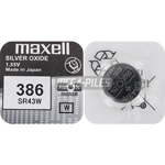 PILE SR43W OXYDE ARGENT 386 1.55V 125mAh x1 MAXELL